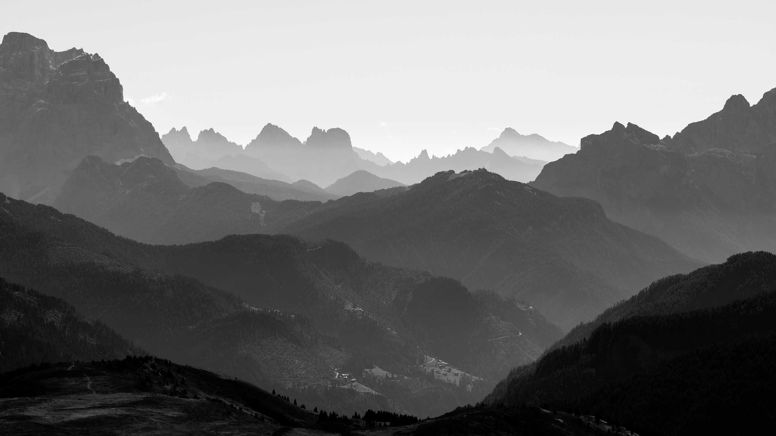 Konturen, Dolomiten, Italien