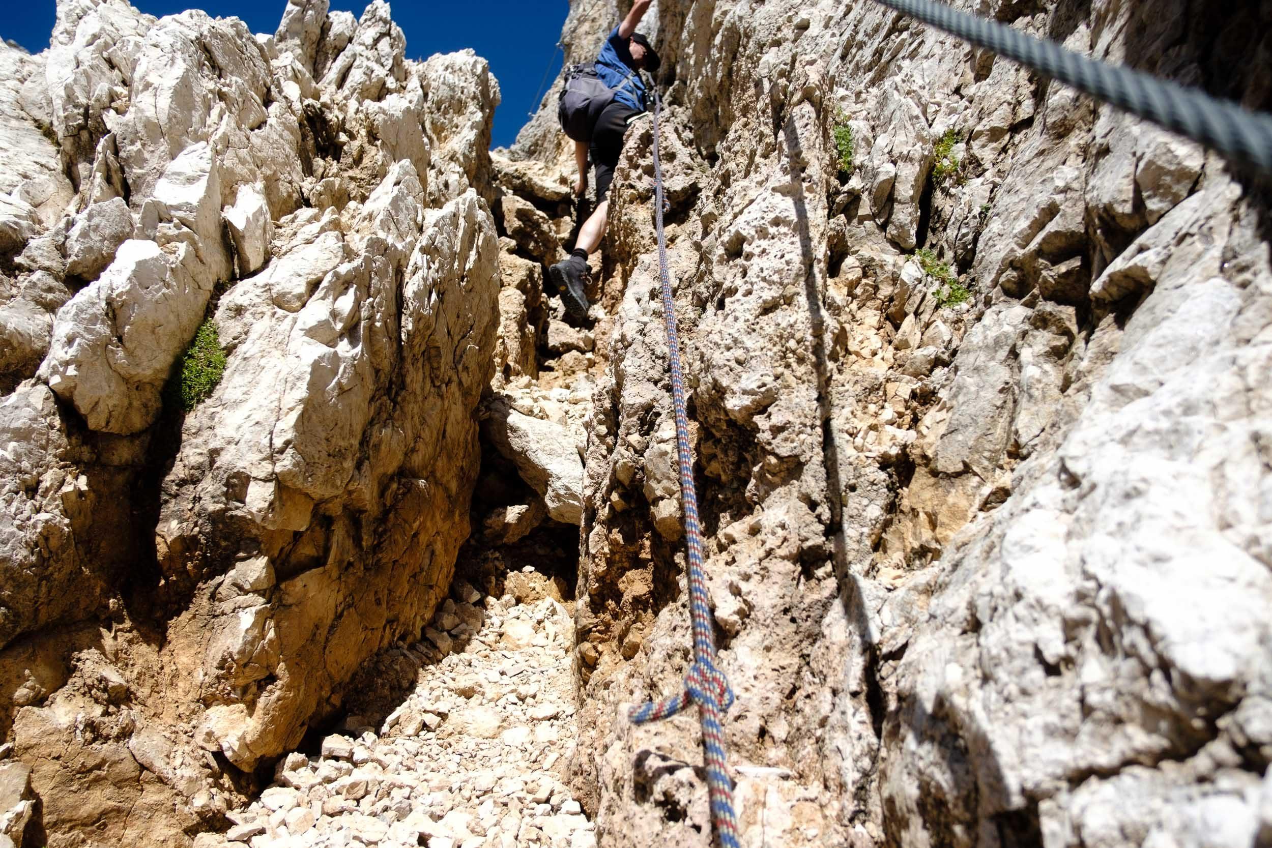 Aufstieg, Sella, Dolomiten, Italien