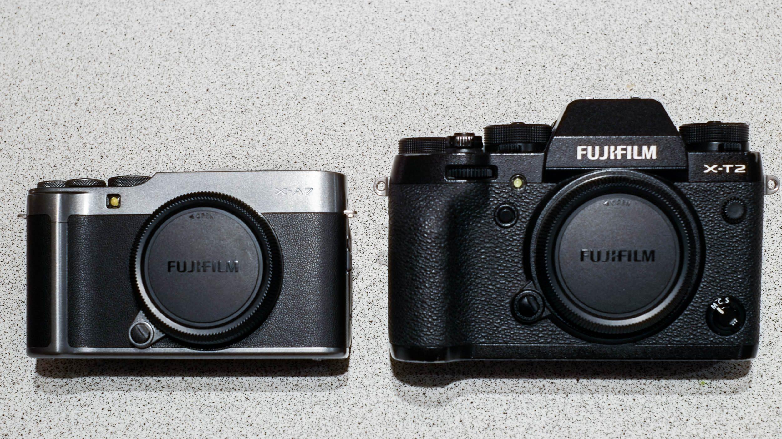 Vergleich Fujifilm X-A7 und Fujifilm X-T2