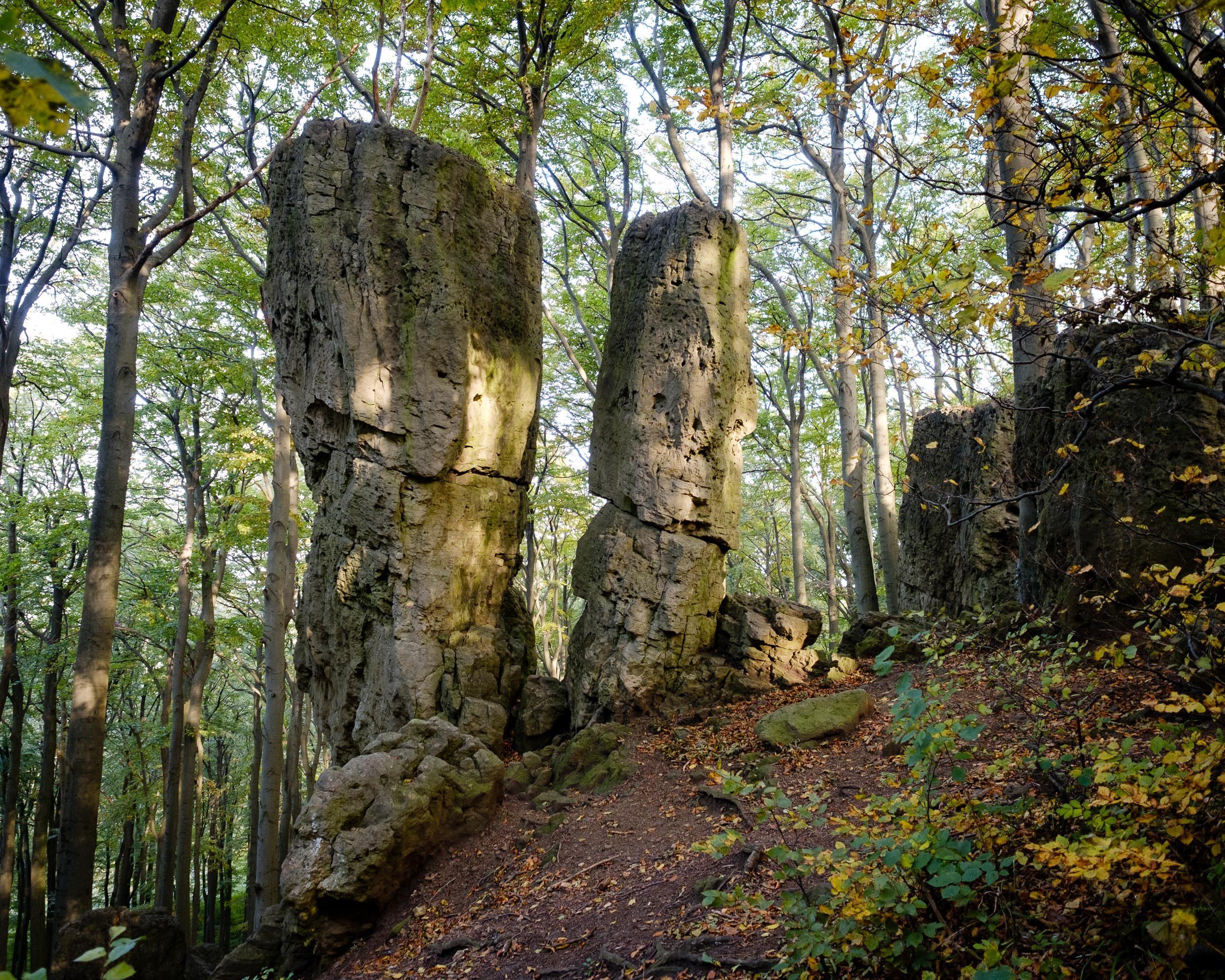 Adam und Eva, Kammweg Ith, Weserbergland