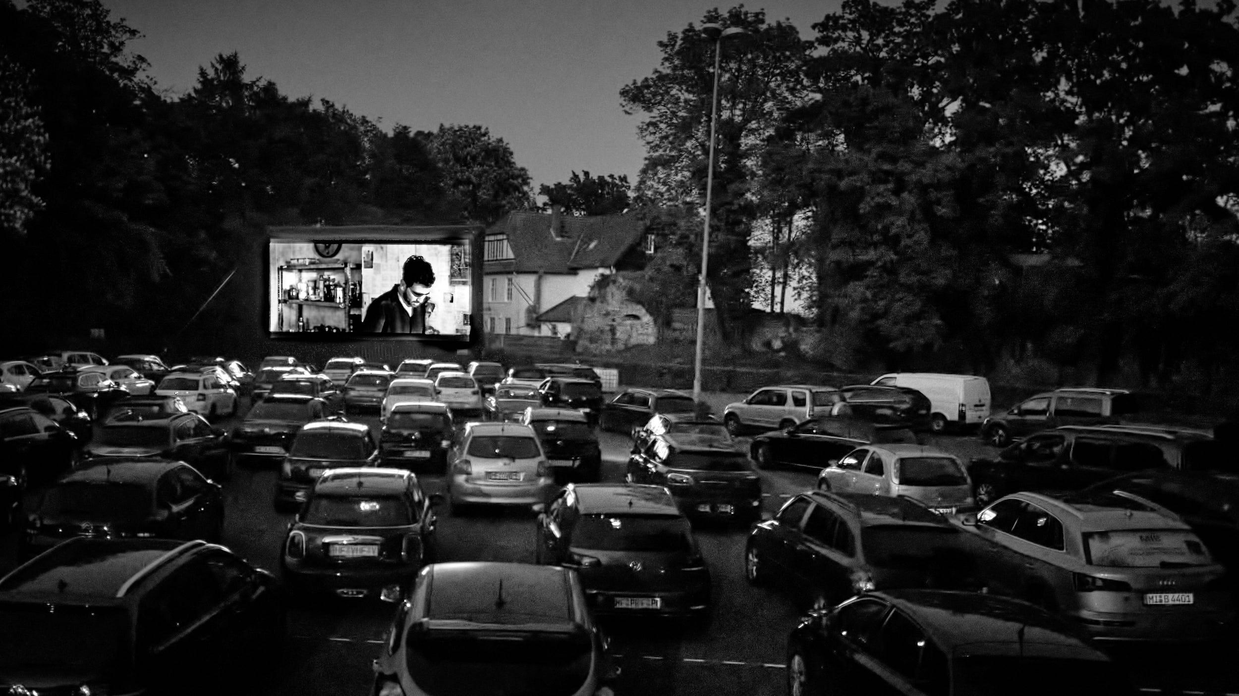 Nacht beim Autokino Vlotho Burg 2020