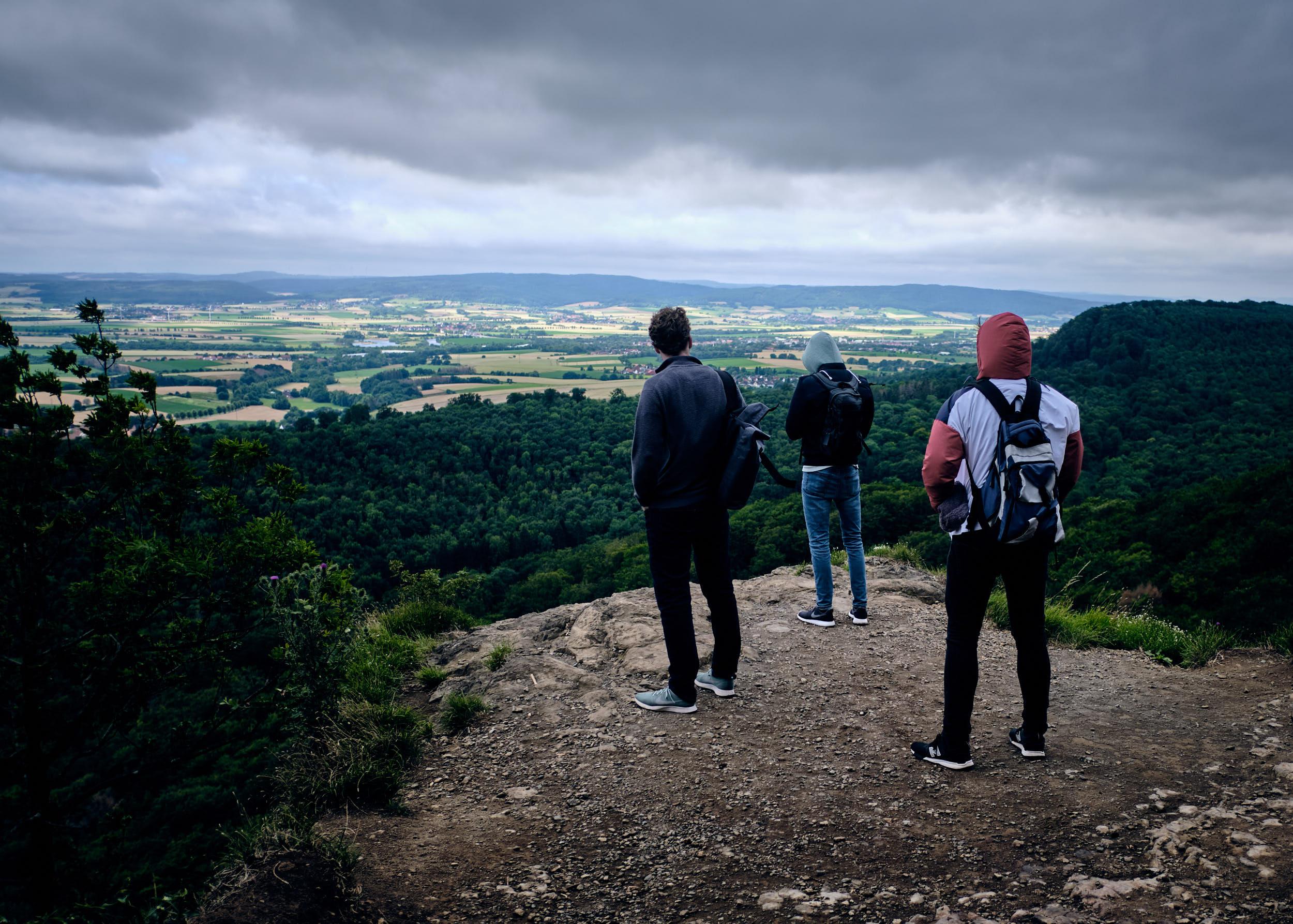 Ausblick vom Hohenstein, Süntel