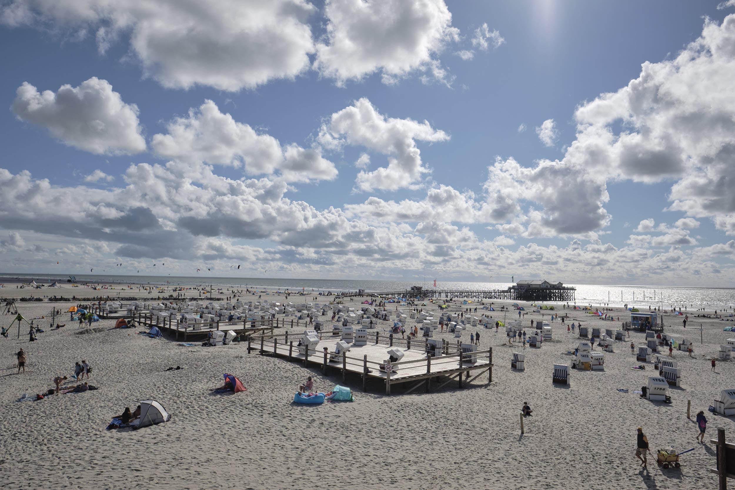 Sommer Strand Sankt-Peter-Ording