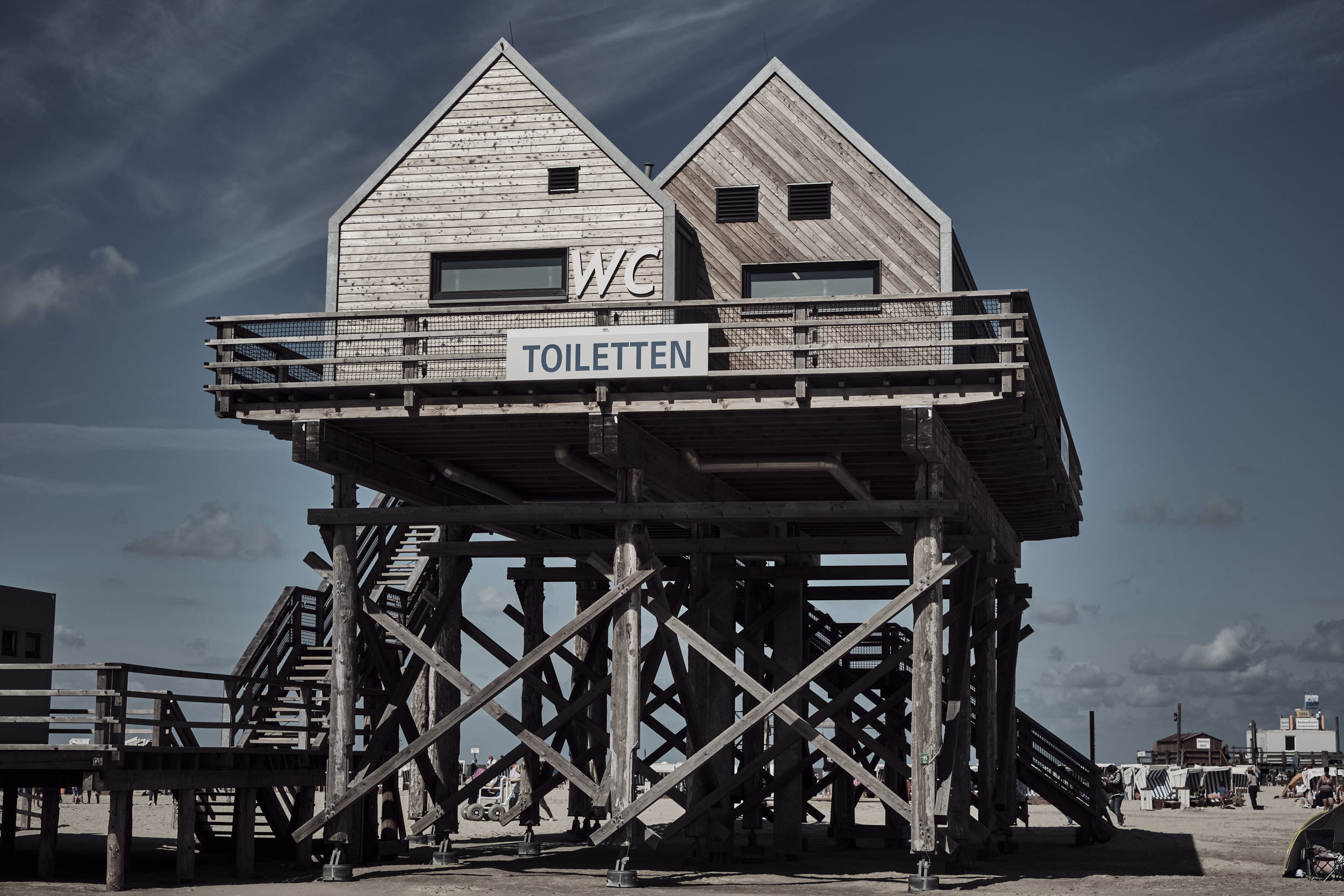 neue Toilettenhausgeneration Sankt-Peter-ording, Strand
