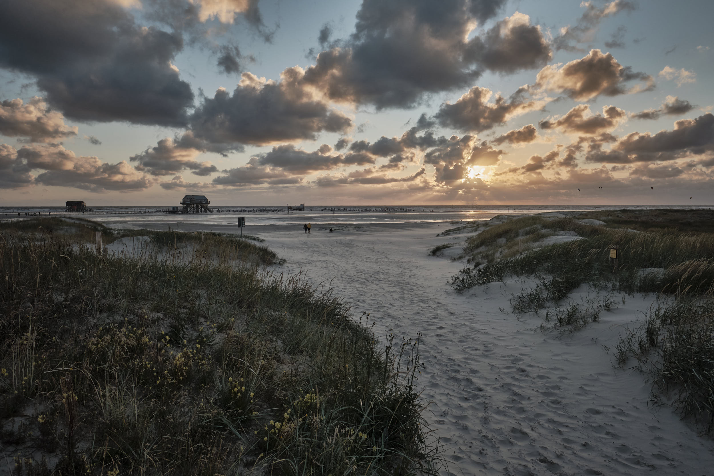 Sonnenuntergang Strand Sankt Peter-Ording