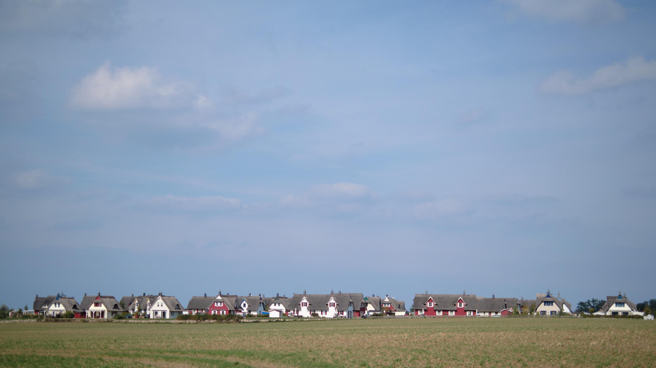 Neubausiedlung an der Ostsee