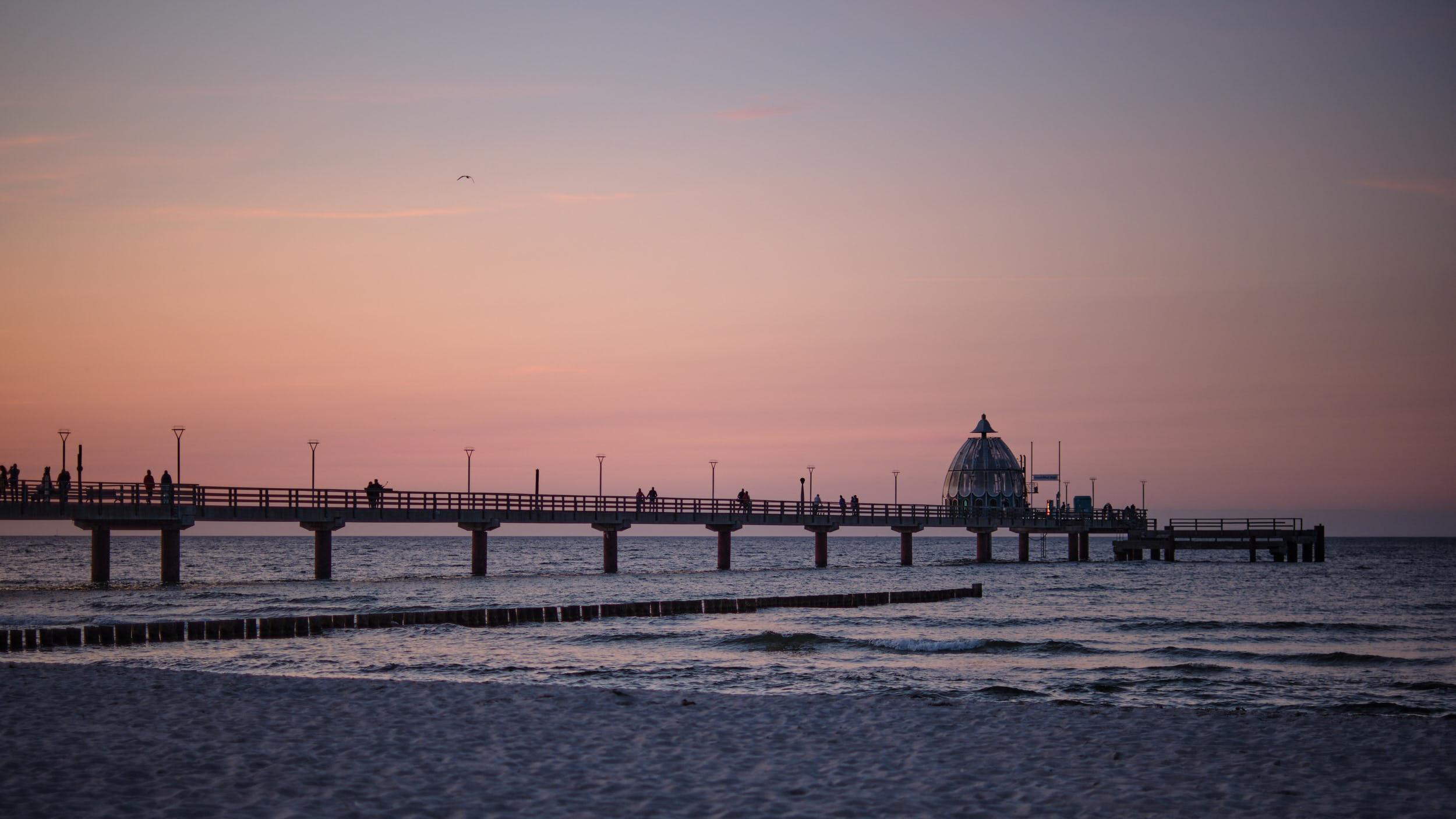 Seebrücke Zingst Sonnenuntergang