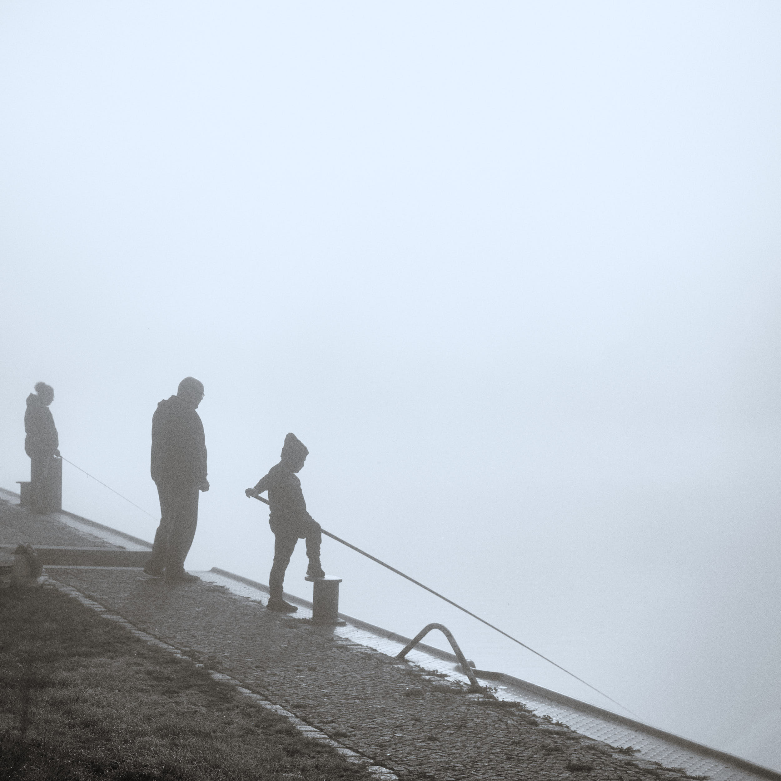 Angler an der Oder in Gartz
