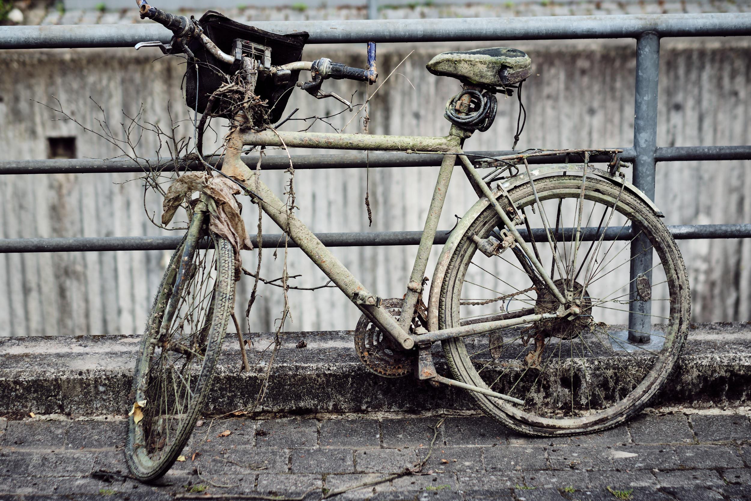 verrottetes Fahrrad