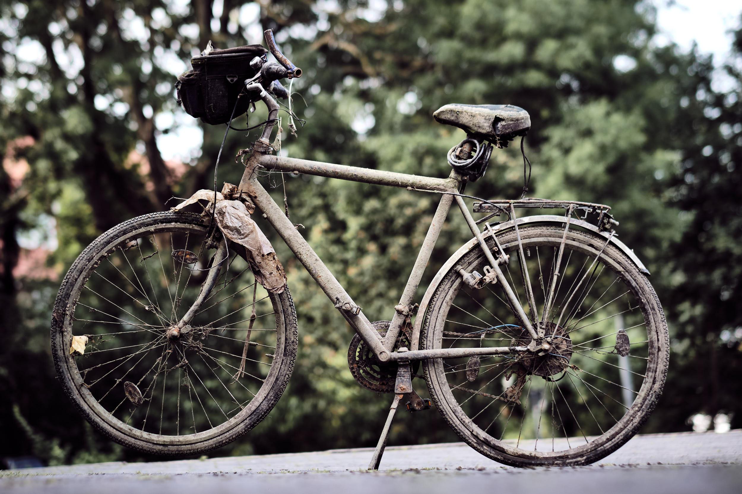 Fahrrad nach Wochen im Wasser