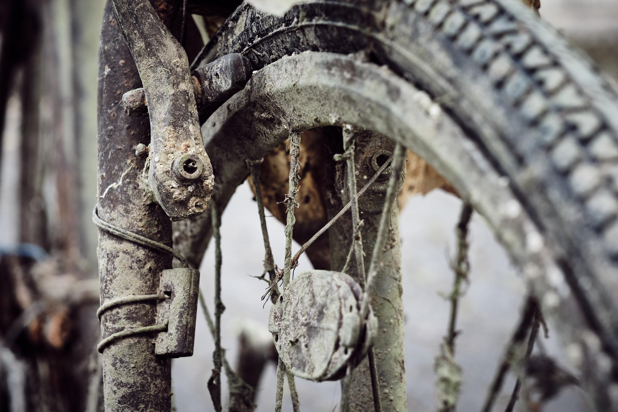 Bremse und Felgen verrottet