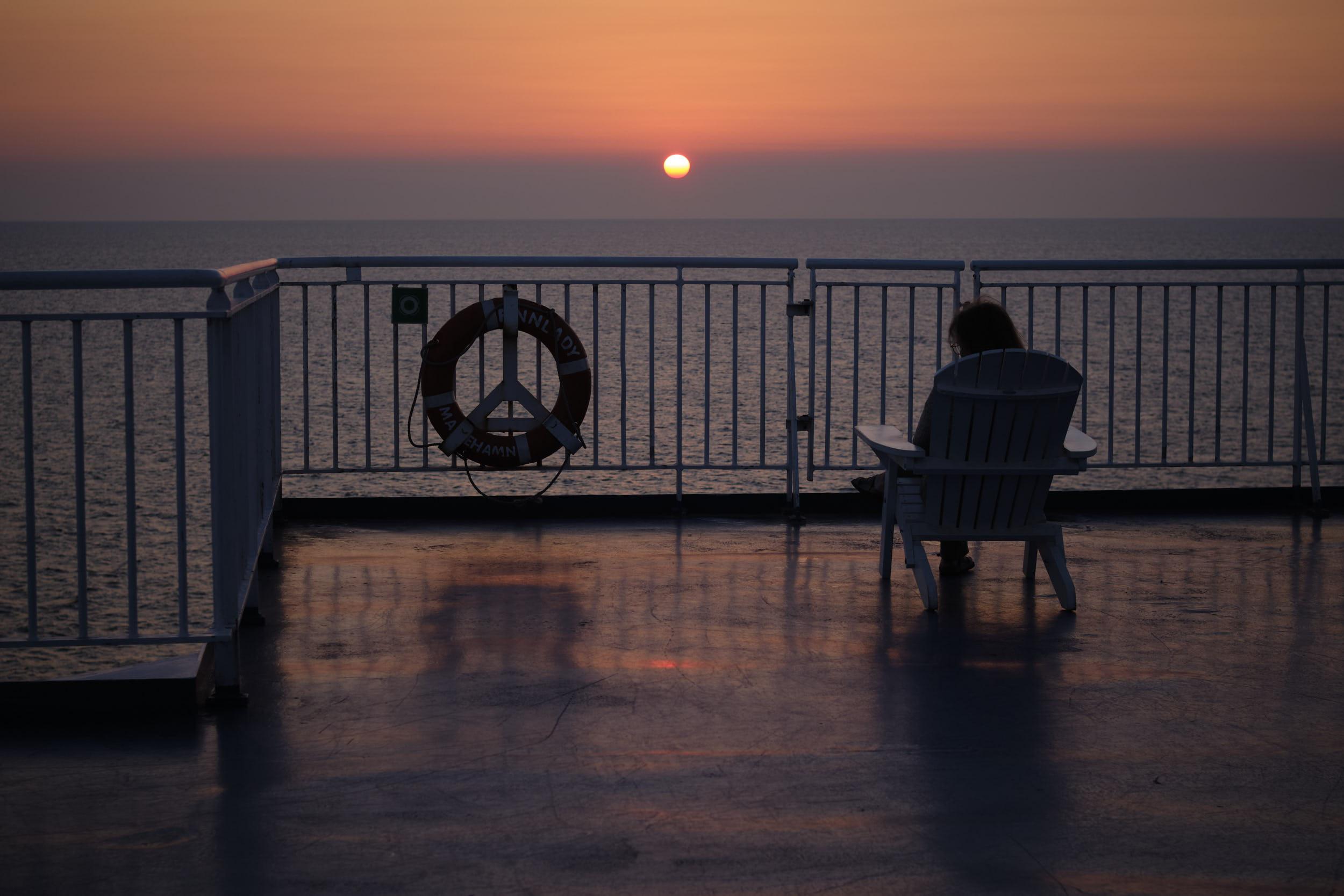Sonnenuntergang, Finnlady