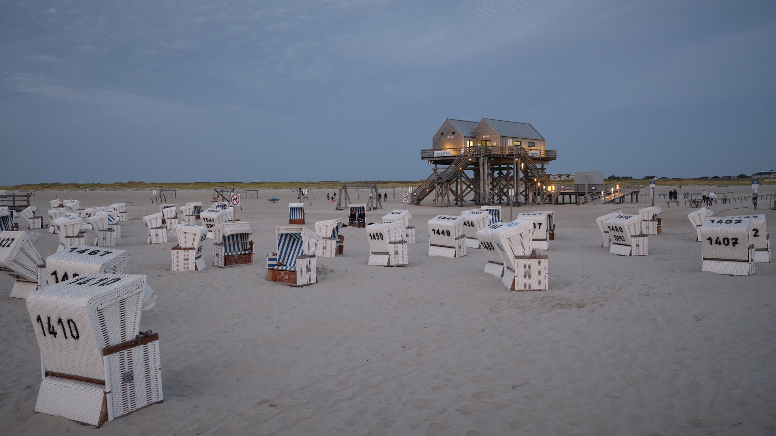 bekannter weiter Sandstrand in Sankt-Peter-Ording