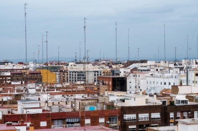 Antennenwald über Valencia