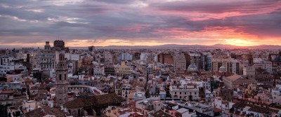 Abendhimmel Valencia