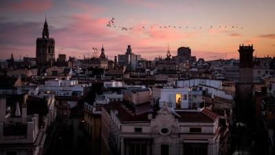 Abendhimmel über Valencia